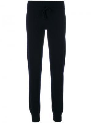 Спортивные брюки со шнурком на талии Cruciani. Цвет: синий