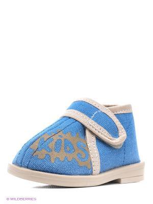 Туфли Римал. Цвет: голубой