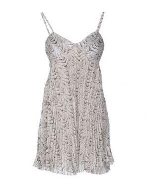 Короткое платье ELISABETTA FRANCHI. Цвет: светло-серый