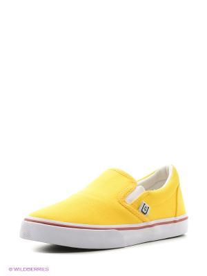 Слипоны 4U. Цвет: горчичный, светло-желтый