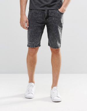 Systvm Черные мраморные джинсовые шорты. Цвет: черный