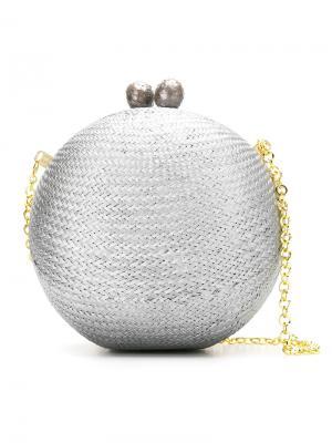 Клатч в форме шара Serpui. Цвет: металлический