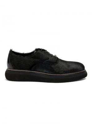 Туфли на шнуровке Bruno Bordese. Цвет: чёрный
