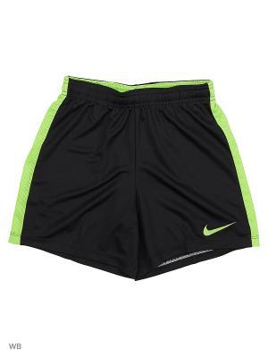 Шорты Y NK DRY ACDMY SHORT K Nike. Цвет: черный, салатовый