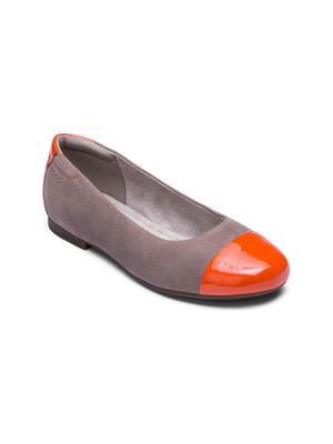 Балетки ECCO TAMMI. Цвет: бежевый, оранжевый