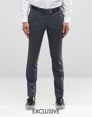 Noak Супероблегающие брюки. Цвет: серый