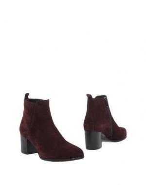 Полусапоги и высокие ботинки LORENZO MARI. Цвет: баклажанный