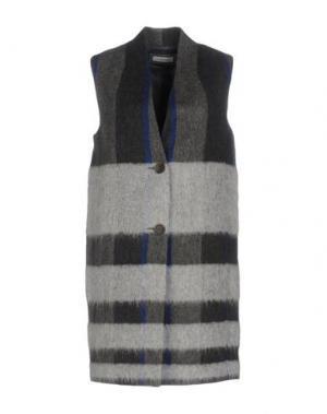 Легкое пальто CAPPELLINI by PESERICO. Цвет: серый