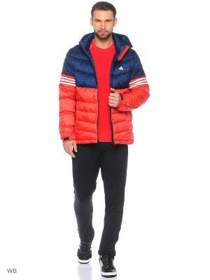 Куртка Adidas. Цвет: синий, красный