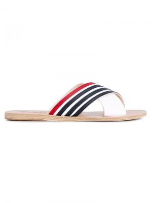 Сандалии Thais Stripe Ancient Greek Sandals. Цвет: красный