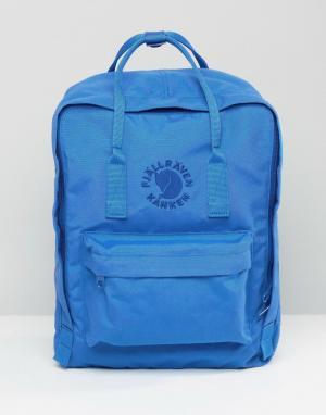 Fjallraven Синий рюкзак Re-Kanken. Цвет: синий