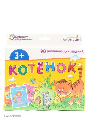 Набор занимательных карточек для дошколят. Котёнок АЙРИС-пресс. Цвет: желтый