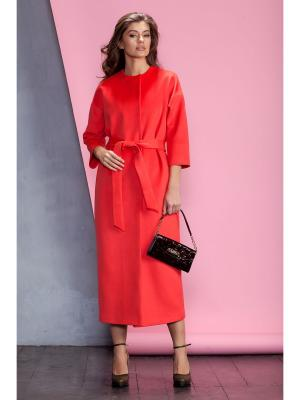 Пальто RUXARA. Цвет: бордовый