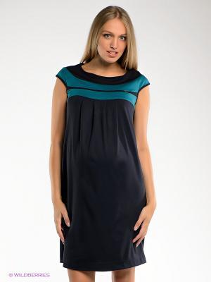 Платье UNIOSTAR. Цвет: темно-синий, бирюзовый