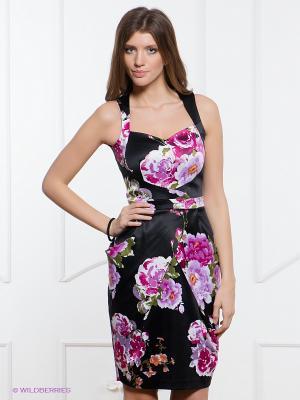 Платье Festival. Цвет: черный, сиреневый