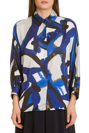 Блузка LeVall. Цвет: синий