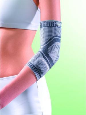 Бандаж локтевой с силиконовой вставкой арт. 2986, ОРРО OppO Medical Inc.. Цвет: серый