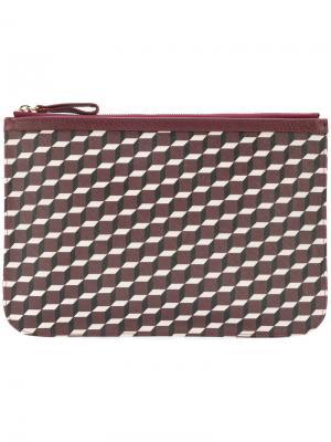 Клатч с геометрическим узором Pierre Hardy. Цвет: розовый и фиолетовый
