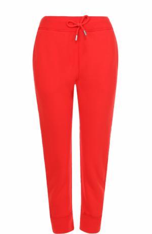 Укороченные джоггеры с карманами и контрастным принтом Dsquared2. Цвет: красный