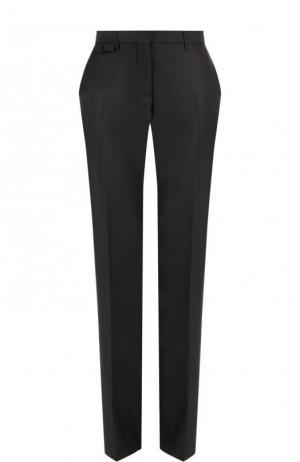 Однотонные шерстяные брюки со стрелками Burberry. Цвет: черный
