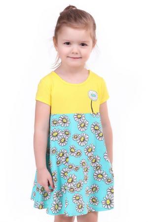 Платье СВIТАНАК. Цвет: желтый, голубой