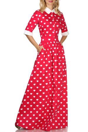 Платье Olivegrey. Цвет: малиново-белый