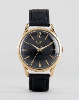 Henry London Часы с кожаным ремешком Westminster. Цвет: черный
