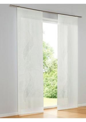 Штора Heine Home. Цвет: молочно-белый, молочно-белый/коричневый