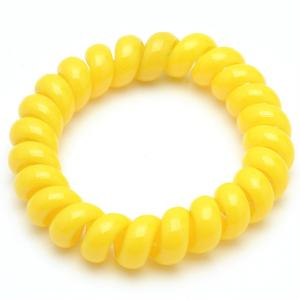 Резинка-Пружинка для волос, арт. РПВ-262 Бусики-Колечки. Цвет: желтый