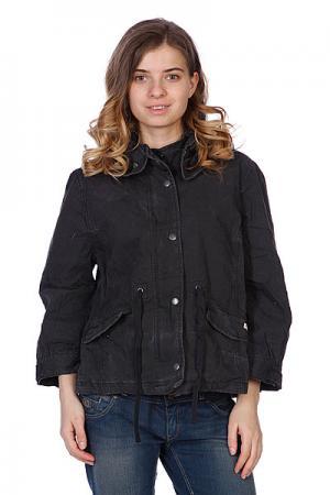 Куртка женская  Wide Short Jacket Black Converse. Цвет: черный
