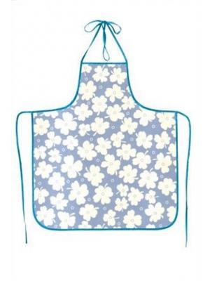 Фартук ПВХ, модель 4 DEKORTEX. Цвет: серо-голубой, белый