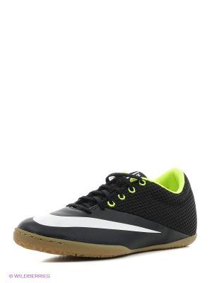 Кеды MERCURIALX PRO STREET IC Nike. Цвет: черный, салатовый