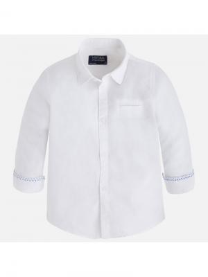 Рубашка Mayoral. Цвет: белый