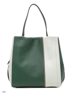 Сумка DKNY. Цвет: белый, зеленый