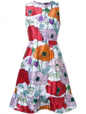 Платье с цветочным принтом DressCamp. Цвет: белый