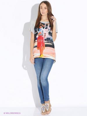 Блузка Up Girl. Цвет: серый