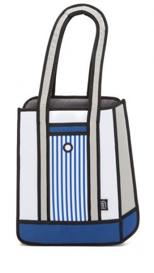 Объемная сумка с короткими ручками в полоску JumpFromPaper