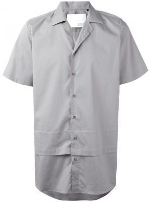 Двухслойная рубашка с короткими рукавами Matthew Miller. Цвет: серый