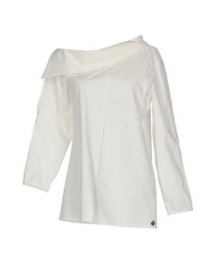 Блузка NOSTRASANTISSIMA. Цвет: белый