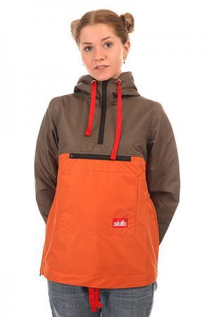Анорак женский  Target 2 Khaki/Orange Skills. Цвет: зеленый,оранжевый