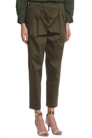 Прямые брюки с карманами Cyrille Gassiline. Цвет: хаки