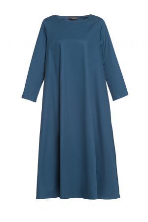 Платье из хлопка 187008 Cyrille Gassiline. Цвет: синий