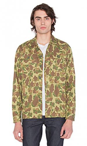 Куртка-рубашка fatigue 3sixteen. Цвет: зеленый