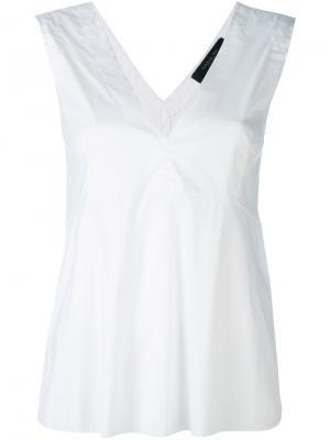 Блузка с V-образным вырезом Federica Tosi. Цвет: белый