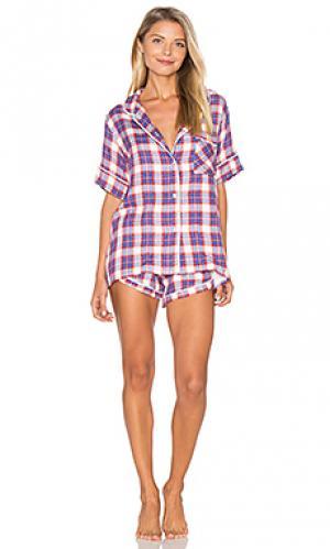 Комплект ультра мягких пижам Plush. Цвет: синий