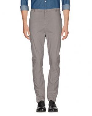 Повседневные брюки COSTUME NATIONAL HOMME. Цвет: голубиный серый