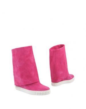 Полусапоги и высокие ботинки CASADEI. Цвет: фуксия