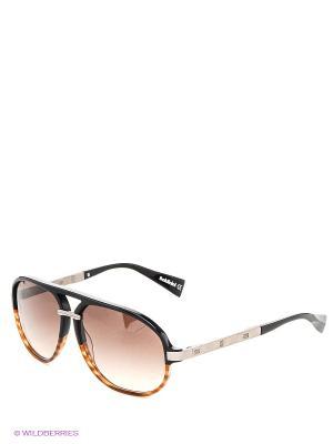 Солнцезащитные очки BLD 1411 203 Baldinini. Цвет: черный, темно-коричневый