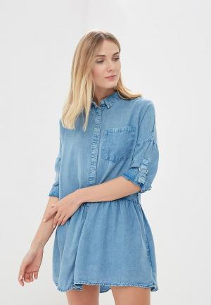 Платье джинсовое Jennyfer. Цвет: голубой