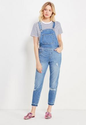 Комбинезон джинсовый Miss Selfridge. Цвет: голубой